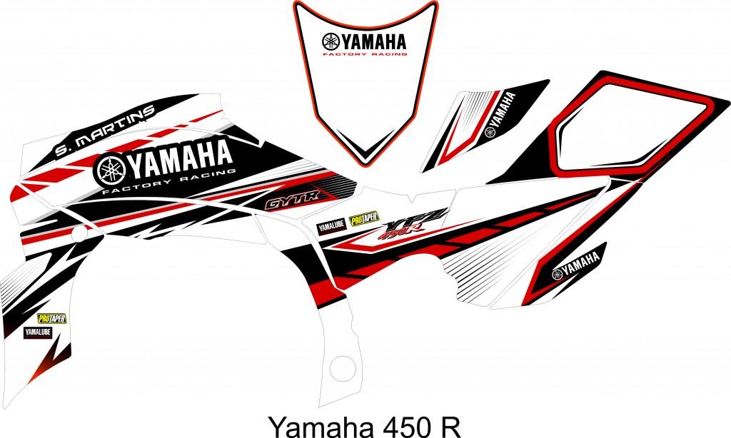 SM YAMAHA YFZR 450 branco,verm